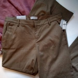 Gap Wide Leg Trouser Size 14 Reg Khaki Pants New